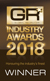 Global Recruiter Industry Awards 2018 - Winner